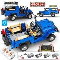 2101pcs city 112 technical rc off road car building blocks app remote control led sports vehicle bricks moc toys for boys gift