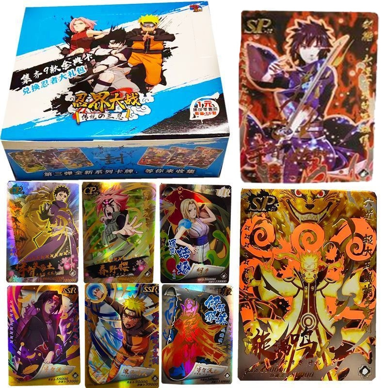 180PCS Japanese Shippuden Hinata Sasuke Itachi Kakashi Gaara Toys Hobbies Hobby Collectibles Game Collection Anime Cards
