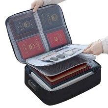 Bolsas de almacenamiento con certificado de contraseña de viaje bolsa impermeable para documentos organizador de tarjetas bancarias bolsa de accesorios para pasaporte
