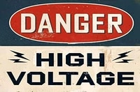 danger high voltage garage man cave ideas signs tin metal outdoor high voltage warning decor home decor art poster