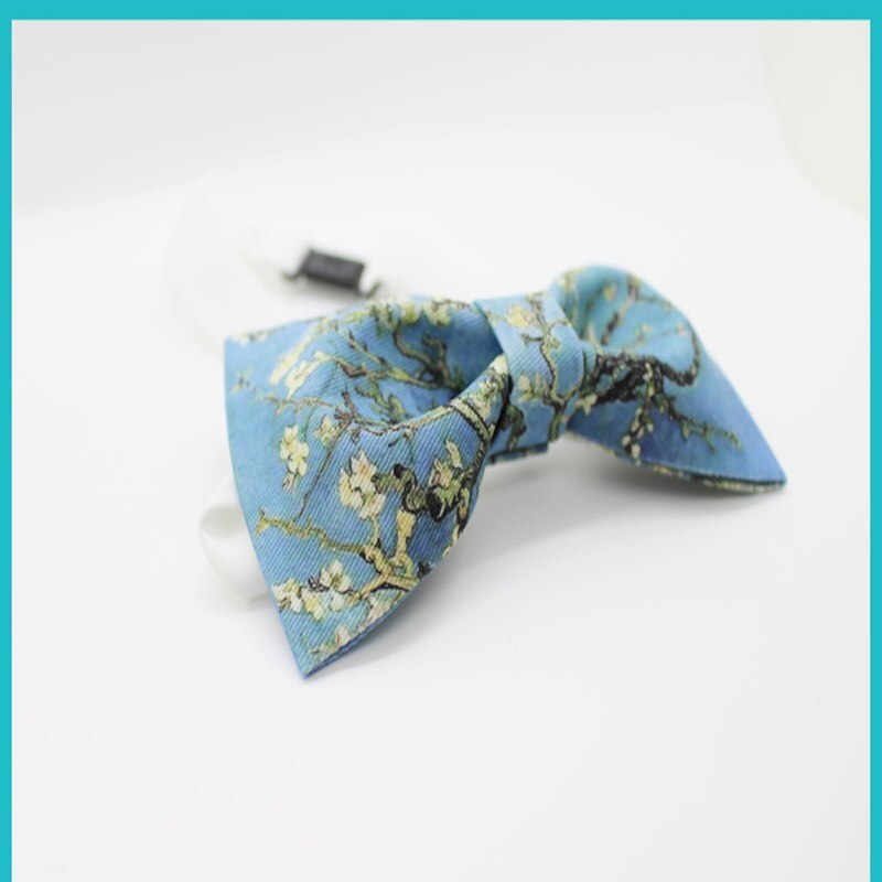 Design bow ties with gift Van Gogh's painting print bow tie for adults quality cotton necktie  quality bow tie  fashion bow tie