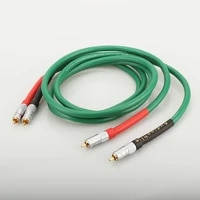 new free shipping pure copper hifi audio cable rca interconnect cable with nakamichi rca plug