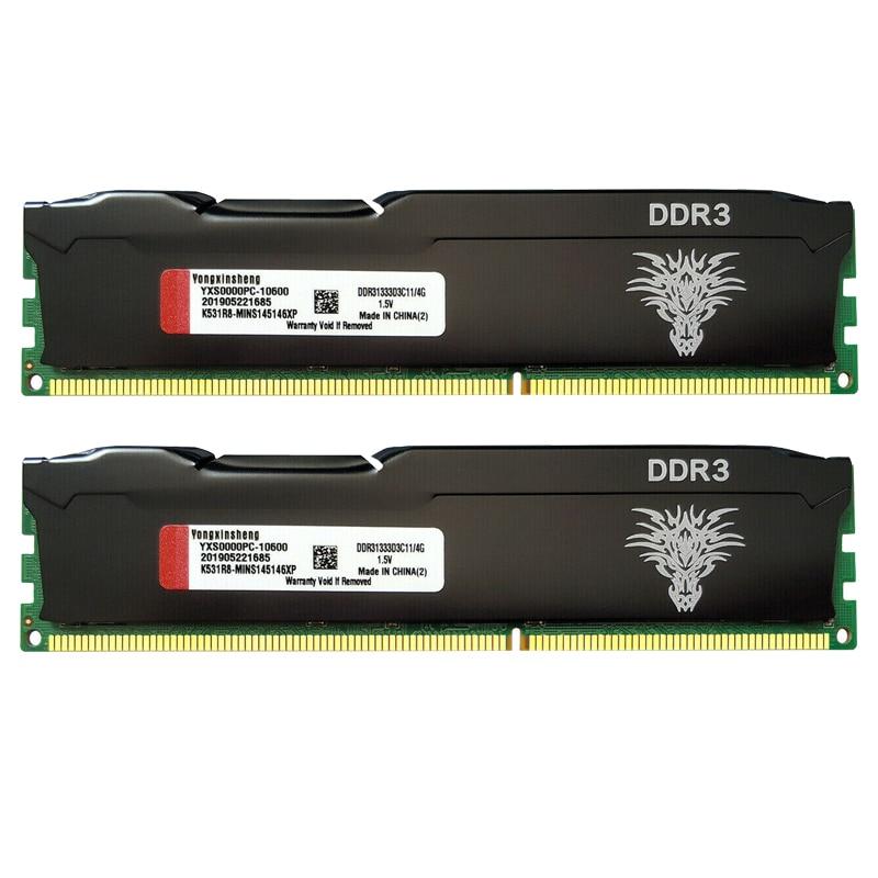 DDR3-memoria RAM de escritorio, PC3-10600 de memoria de escritorio de 4GB, 8GB,...