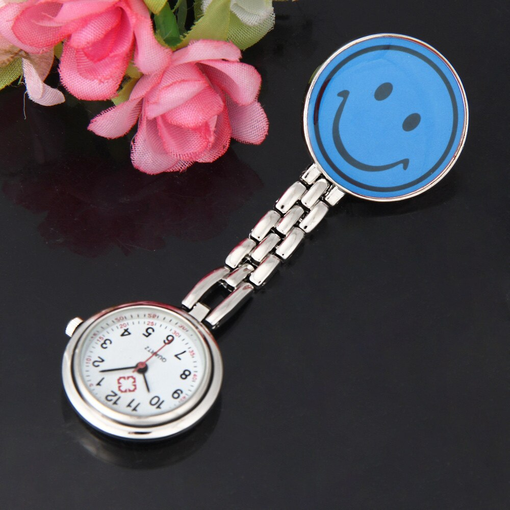 Sonriente enfermera broche de Clip-Fob broche colgante sonrisa cara reloj de bolsillo карманные часы