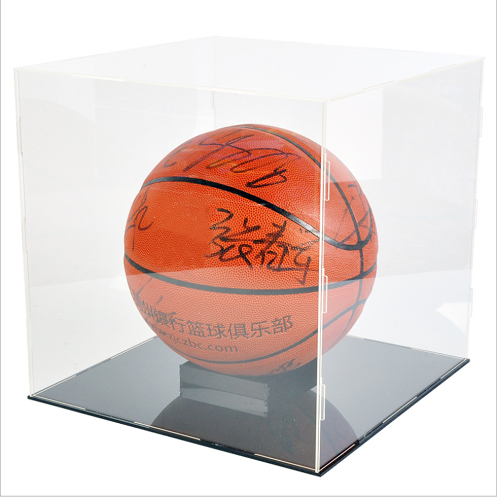 30x30x30cm Acrylic Clear Display Case Large durable Box UV Dustproof Toy Protection Dustproof Cube Perspex for Basketball Displa acrylic plastic action figures princess starwars avengers display case box dustproof display box loz building block bricks toys