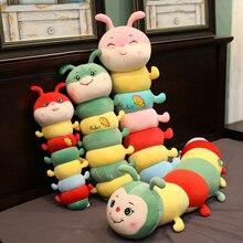 60cm mignon chenille en peluche peluche Animal doux en peluche dessin animé oreiller Long coussin jouets cadeaux pour filles enfants chambre décor