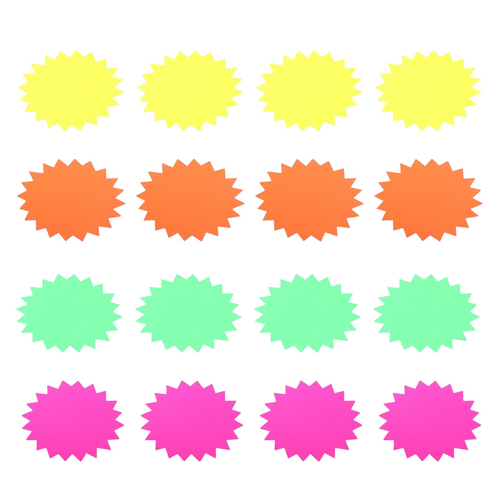 40 шт., флуоресцентные наклейки по рыночным ценам