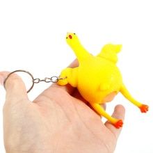 1 Pcs Squishy Speelgoed Anti Stress Squeeze Speelgoed Stress Relief Speelgoed Funny Gadgets Kids Adult Eieren Legkippen Key-chain Kids Speelgoed