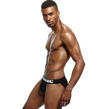 Adannu Men Underwear Brief Breathable Cotton Underpants Men's Briefs Slip Low Waist Ropa Interior Cu