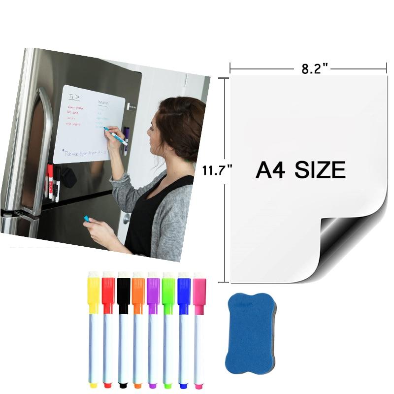Белая магнитная доска формата а4 для обучения, магнит для доски стирания, стикеры для органайзер для холодильника