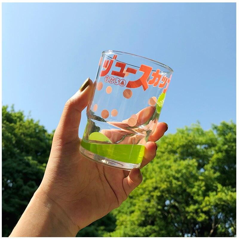 Taza de Cristal creativa de colores, vaso de vidrio transparente para café,...