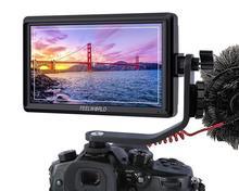 "FEELWORLD FW568 틸트 암 및 전원 출력을 갖춘 5.5 ""4K HDMI 온 카메라 모니터"