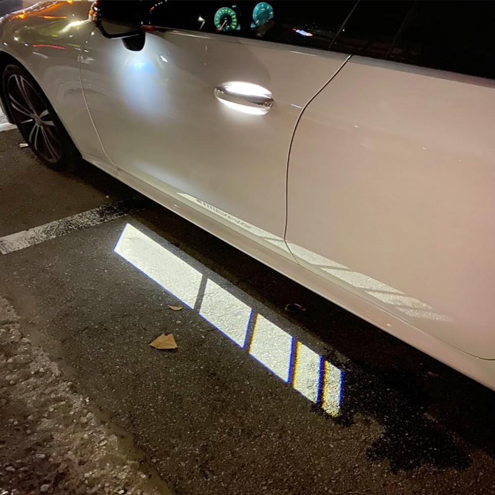 Luz de bienvenida de coche para Mercedes Benz W205 W213, accesorios de espejo retrovisor, decoración de sombra, luz blanca, señal de luz