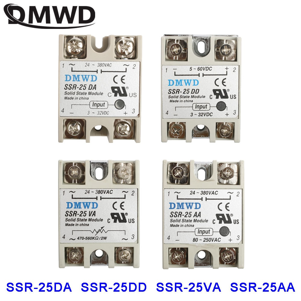 solid state relay SSR-25 25A DA Industrial Solid State Relay Module AA SSR DD SSR-25VA SSR-25DD SSR-25AA SSR-25DA