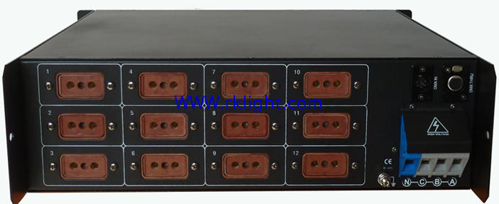 Caja Digital directa de 12 vías DMX512, caja directa de relé de luz, caja de interruptor de relé