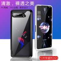 ultra thin soft tpu frame transparent acrylic shockproof case for asus rog phone 5 protective back cover coque fundas