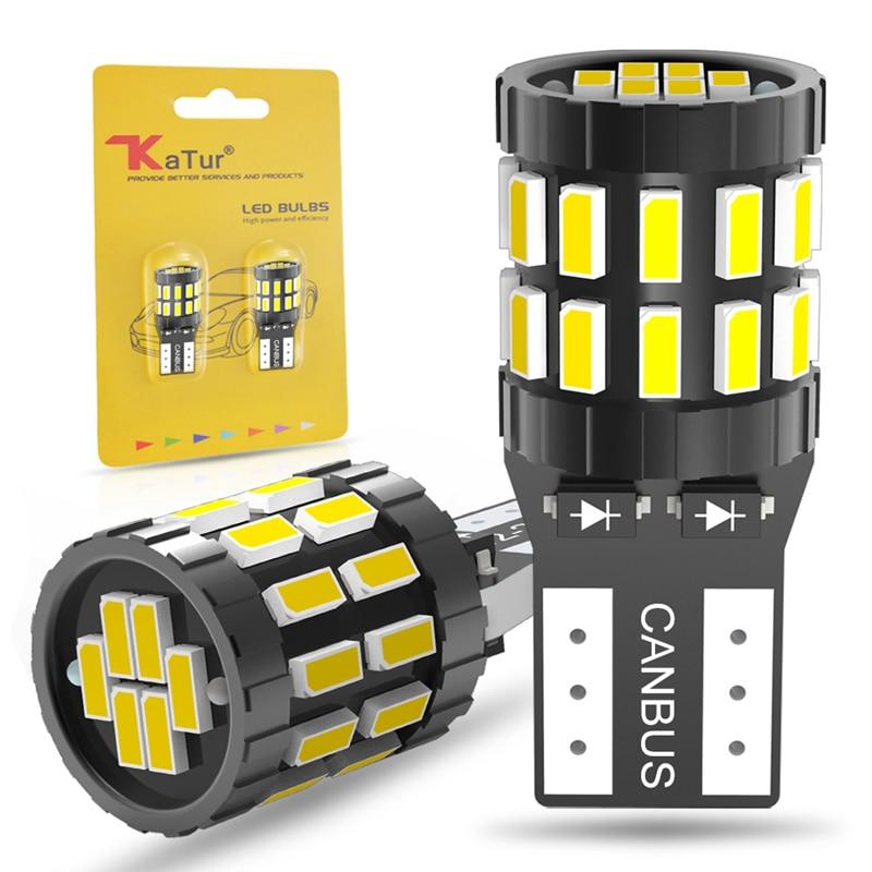 2 uds W5W T10 LED Canbus bombilla W5W de estacionamiento luces interiores...