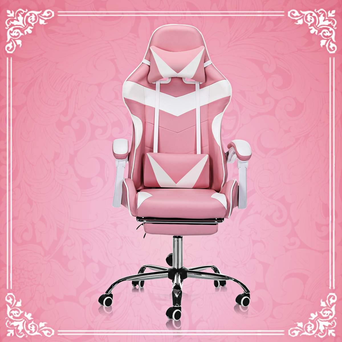 كرسي الكمبيوتر المكتبية WCG كرسي ألعاب الفيديو الوردي سيلا مكتب جلدي كرسي الإنترنت مقهى كرسي ألعاب كرسي كرسي مكتب المنزلية