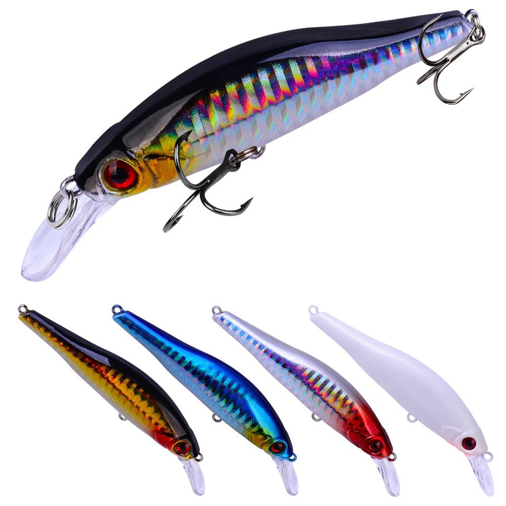 1PCS 9.8cm 11.5g Fishing Lure Quality Minnow 3D Eyes Plastic Hard Bait Pesca Artificial Jig Wobblers Crankbait