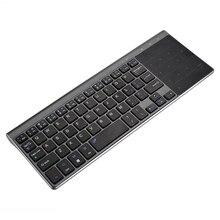 1pc Professional Schwarz Tastaturen Hohe Qualität Wireless Touch Tastatur Mit Touchpad Für Computer PC Verbunden Smart TV