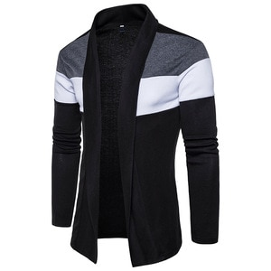 Shawl Collar Cardigan Men Pull Homme 2020 Fashion Autumn Slim Fit Long Mens Cardigans Casual Hit Color Knitted Cardigan Sweater