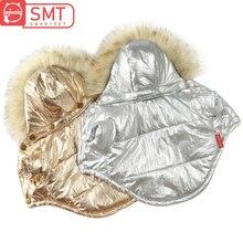 Ropa para perros chaqueta de invierno caliente para perros pequeños impermeable de piel con capucha cachorro mascota abrigo Chihuahua Bulldog francés ropa overoles