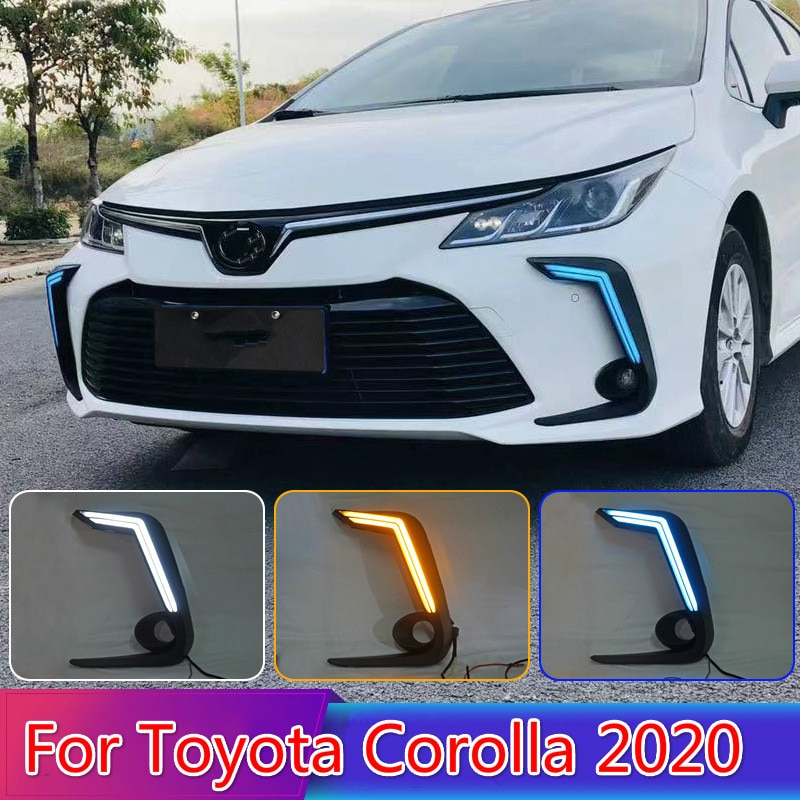 Para Toyota Corolla 2020, 2 uds., bombilla LED diurna para correr, superbrillo 12V, LED DRL impermeable ABS, bombilla de luz diurna