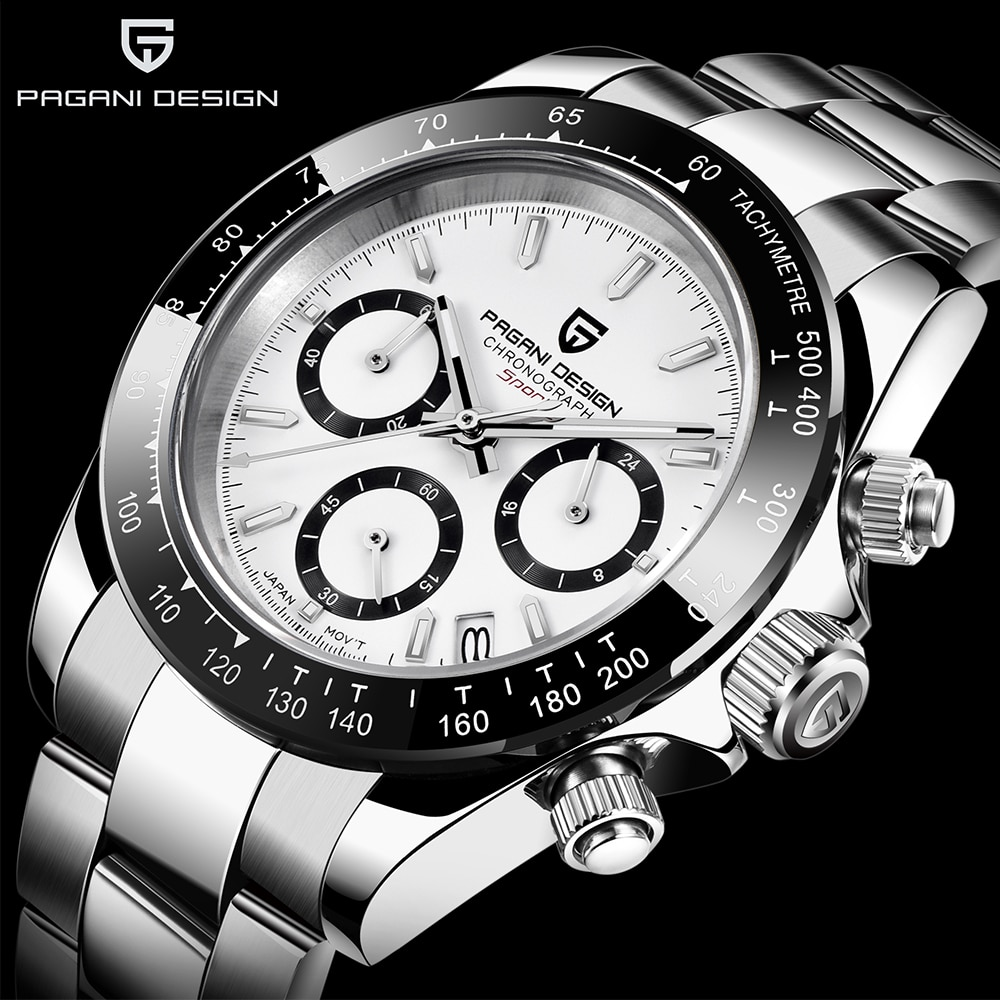 2020 PAGANI DESIGN marque chronographe sport montres hommes de luxe marque Quartz étanche 100M montre Relogio Masculino + boîte PD-1644