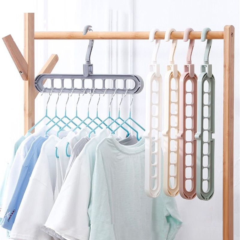 Perchero mágico para ropa ahorrador de espacio, perchero para ropa con múltiples puertos, Perchero de secado, perchero organizador, perchero plegable creativo para ropa