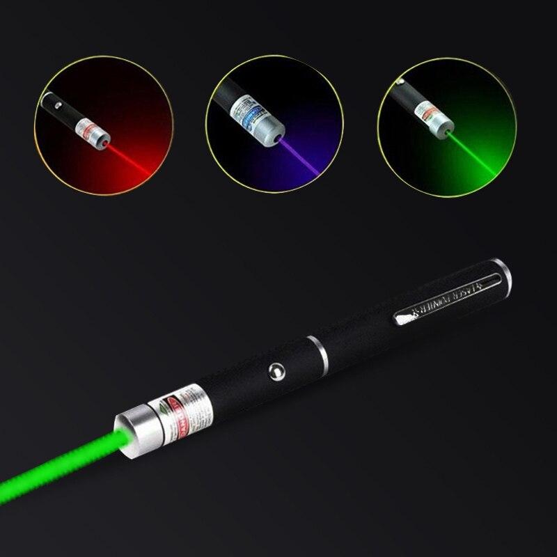 Лазерная указка высокой мощности, 5 мВт, 530 нм, 405 нм, 650 нм, лазерная ручка, лазерный светильник, мощный лазерный измеритель, тактическая ручка ...