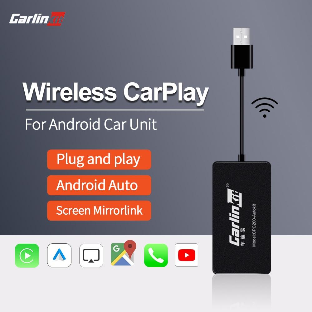 Carlinkit llave electrónica Apple CarPlay inalámbrica USB y sistema operativo Android para...