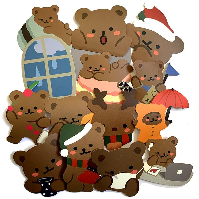 Ztd ztd adesivos para mala de skate, 60 peças de desenho animado, bonito urso, para mala, laptop, bagagem, geladeira, telefone, estilizador de carro, decalque diy adesivo