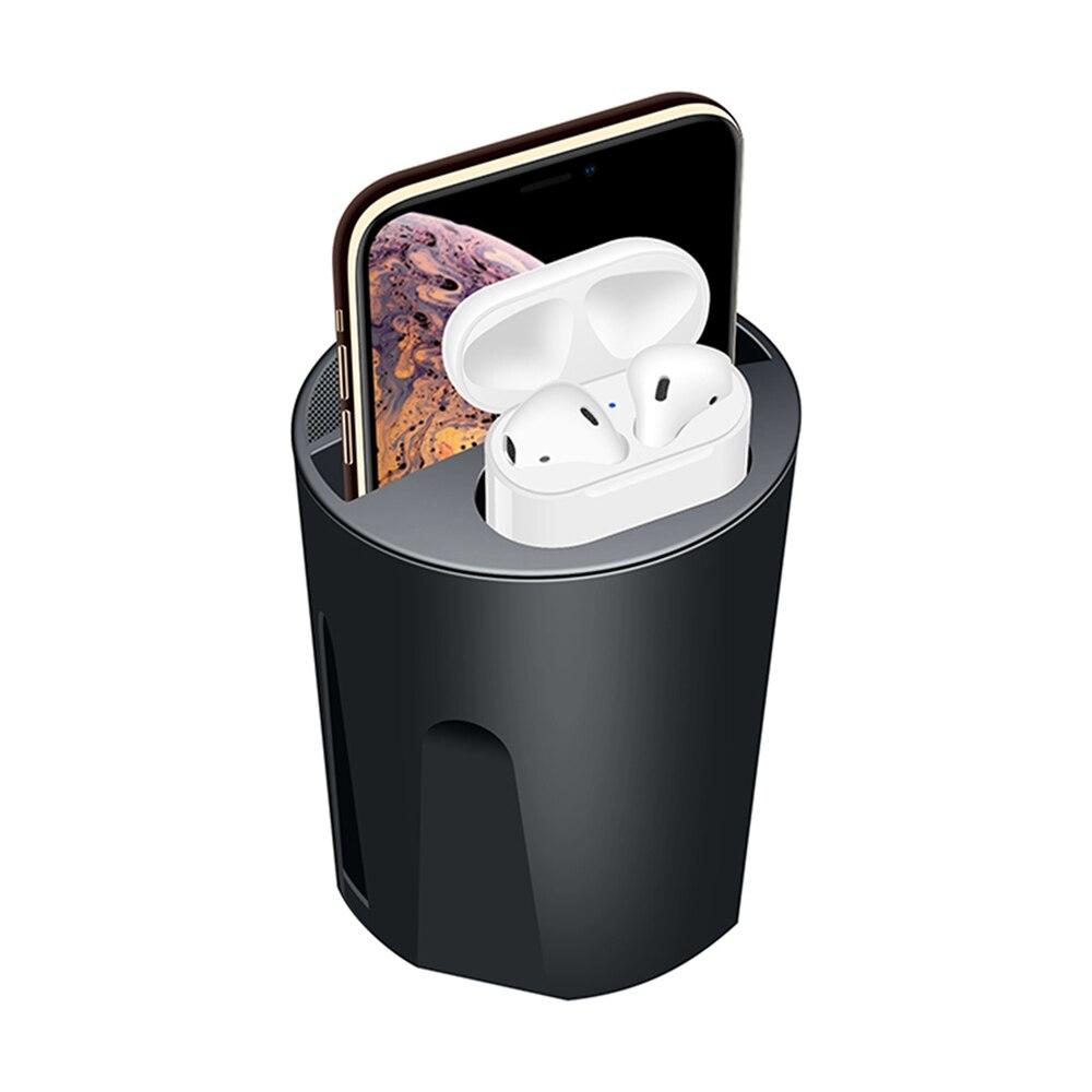 QI Carregador Sem Fio para Apple Airpods 4in1 Copo Carregador De Carro para iphone 8 XRs 5 V/2A Carregador De Carga Rápida com Embutido Ventilador Refrigerador