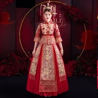 chinese traditional wedding embroidery cheongsam banquet elegant bride exquisite appliques sequins beading qipao %d0%ba%d0%b8%d1%82%d0%b0%d0%b9%d1%81%d0%ba%d0%b0%d1%8f %d0%be%d0%b4%d0%b5%d0%b6%d0%b4