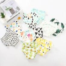 4 capas entrepierna bebé algodón pantalones de entrenamiento bragas tela pañales reutilizables pañales niño impermeable ropa interior de bebé lavable
