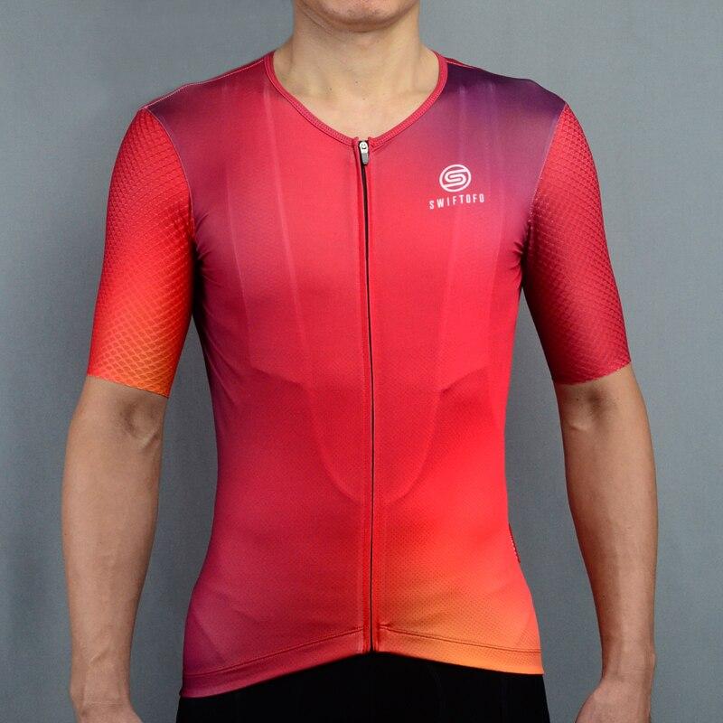 SWIFTOFO llama roja hombres ciclismo Jersey Pro equipo de manga corta ropa de bicicleta de verano camisa de ciclismo ropa deportiva uniforme