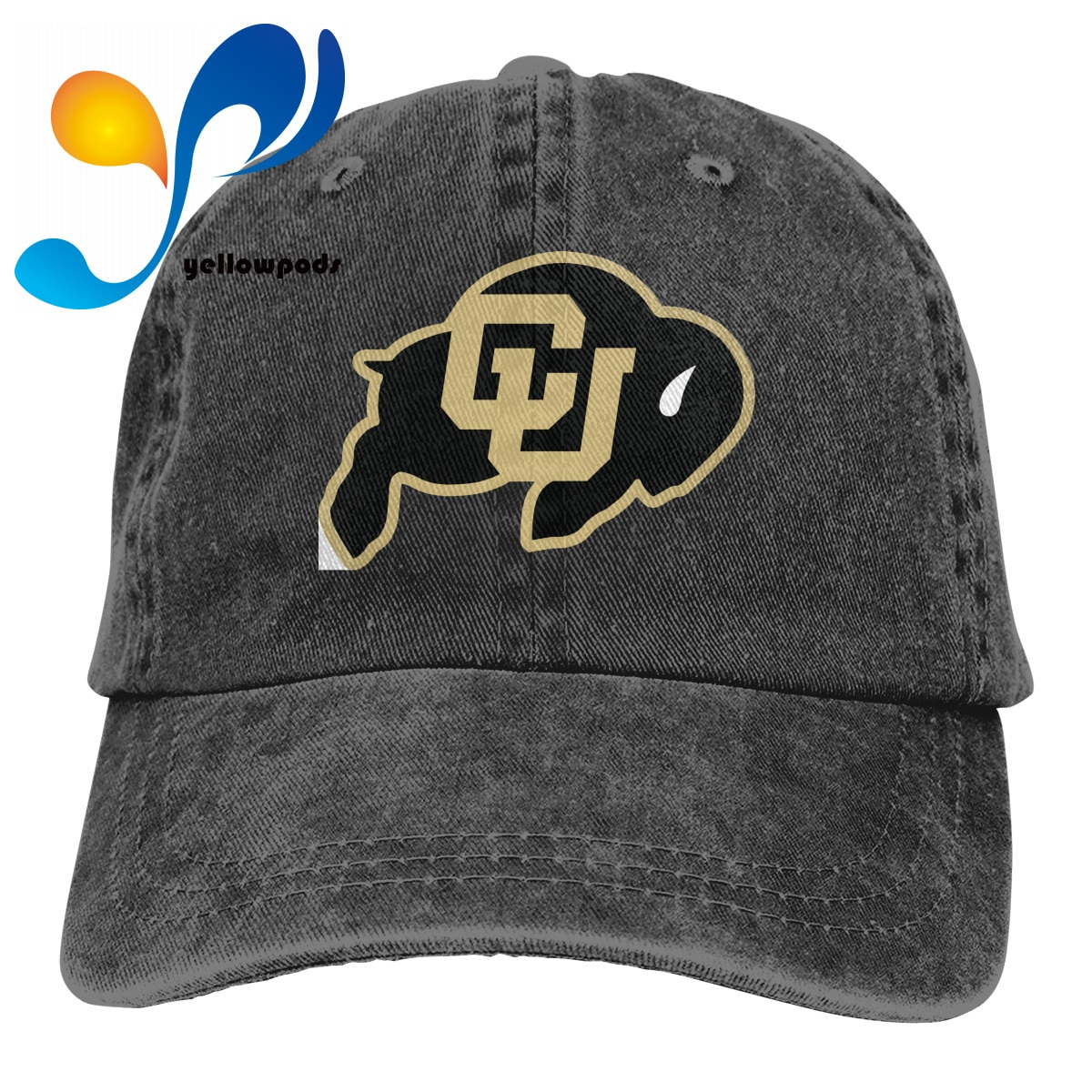 Sombrero de papá de ola lavada, gorra de Hip Hop Colorado Gorra de béisbol de algodón, gorra Snapback, gorra DEPORTIVA UNIVERSITARIA