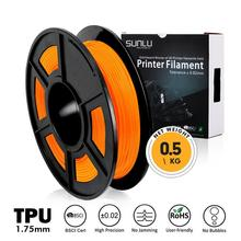 Tpu 3D Filament 0.5Kg 1.75Mm Tolerantie 0.02Mm Oranje Flexibele Zachte Filamenten Voor 3D Printer Schoenen Telefoon Case afdrukken Materiaal