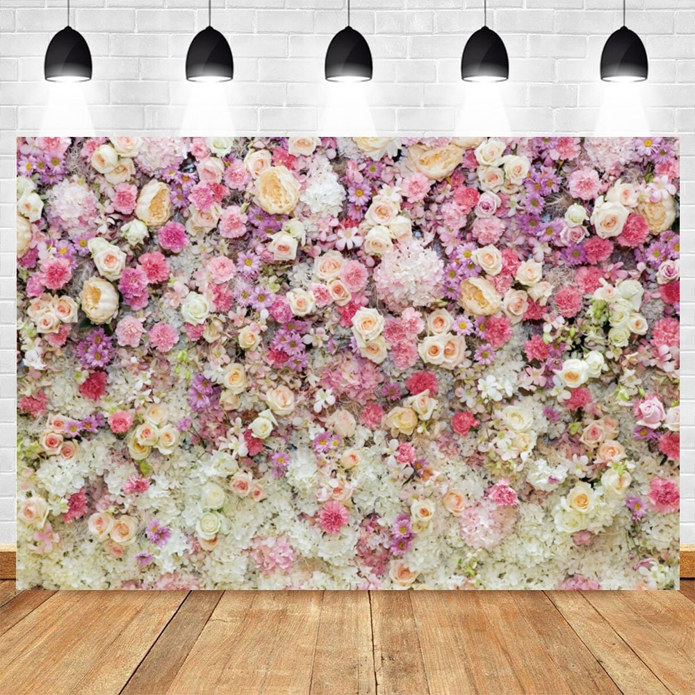 flower deer wedding background stand marriage party custom vinyl photography backdrops for photo studio photographic photocall Spring Valentine's Day Flower Wedding Photocall Birthday Photography Backdrop Vinyl Photographic Background For Photo Studio