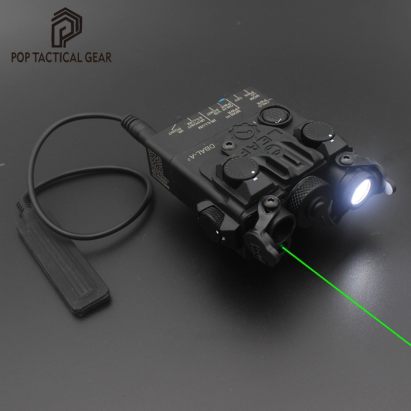 DBAL A2 PEQ 15 Dual Beam Aiming Laser For Airsoft Fit 20mm Picatinny Rail Nylon 2021 Ver.