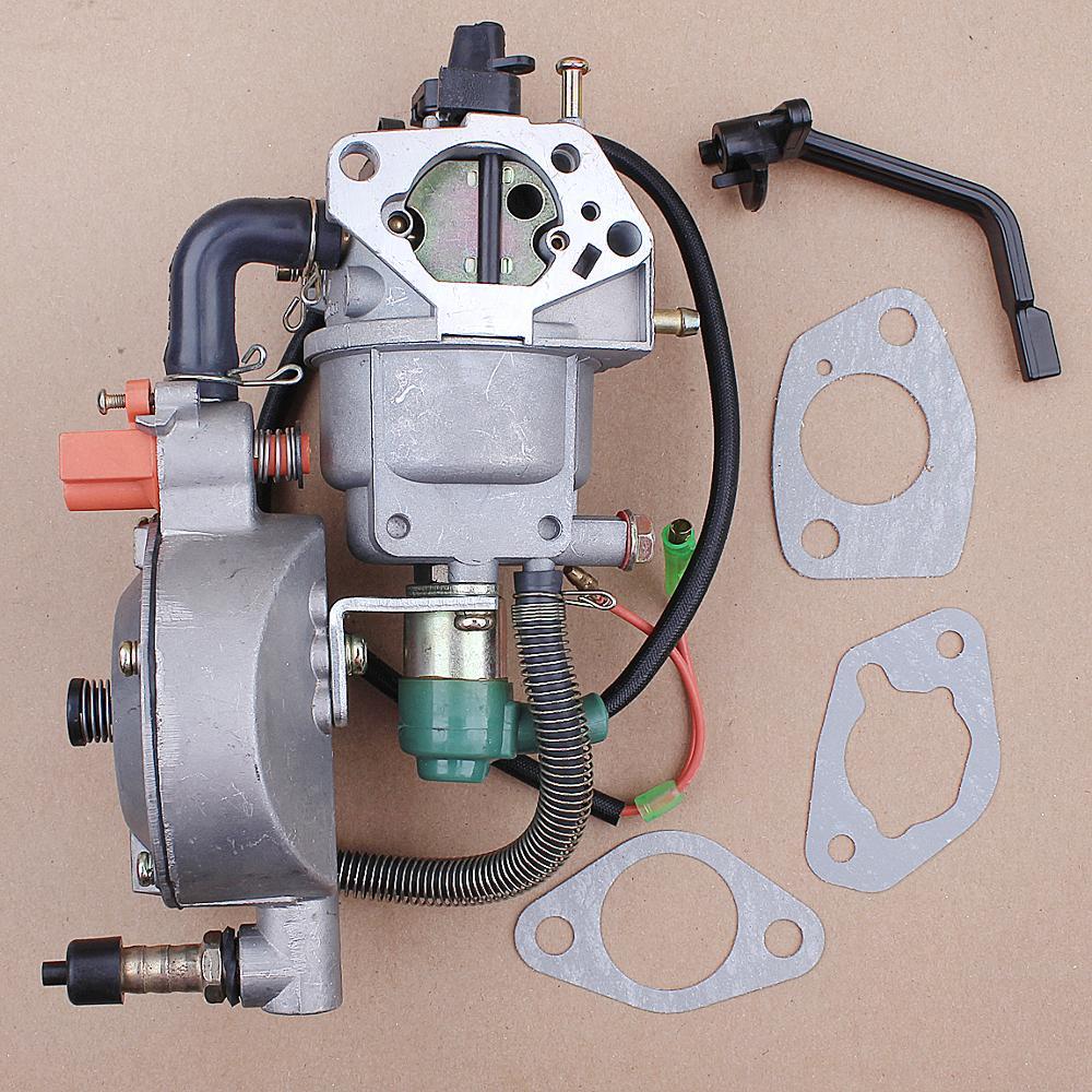 Двойной топливный карбюратор, генератор сжиженного нефтяного газа для Honda GX360 GX390 GX420 188F 190F, автомобильный дроссель, генератор, детали двигат...