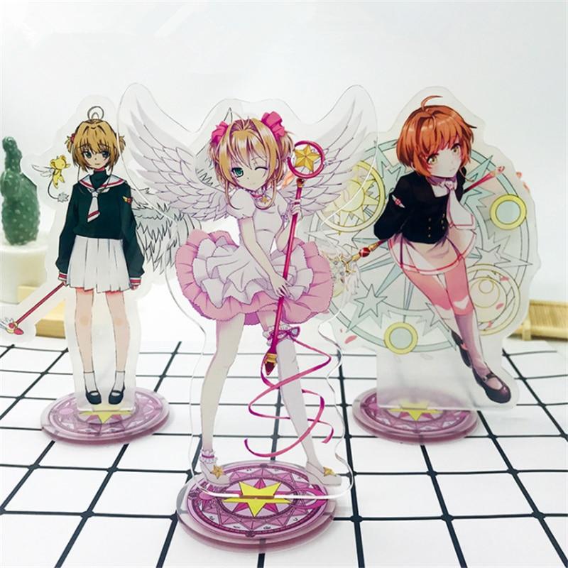 Accesorios de personajes de Sakura Cardcaptor LI SYAORAN, accesorios de decoración de Anime, juego de dibujos animados de acrílico