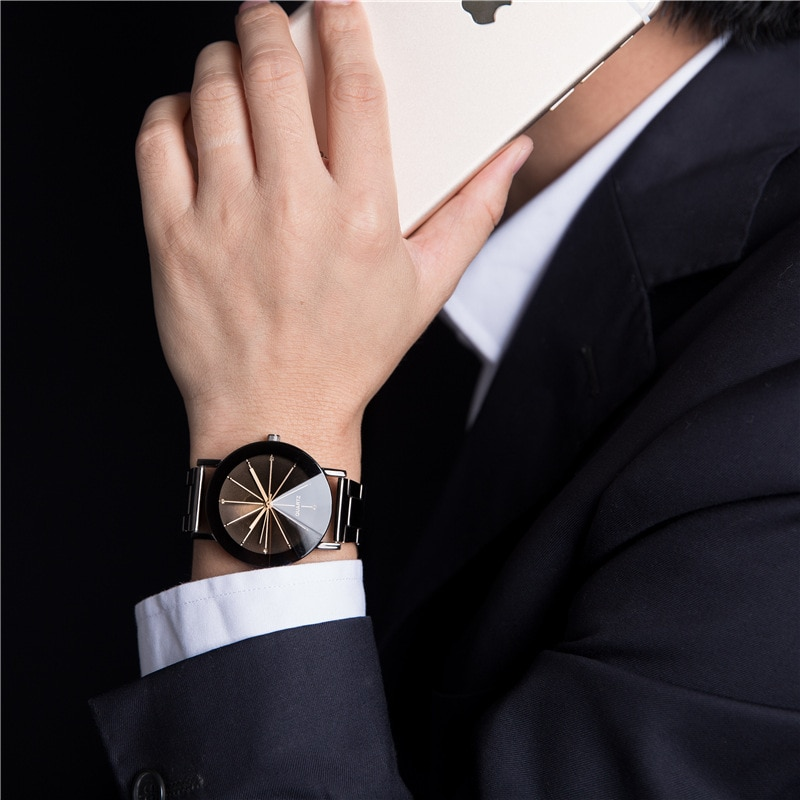 2020 Mens Designer Watch Fashion Casual Men's Watches Black Stainless Steel Mens Watches Men Quartz Wristwatch Erkek Saat Montre