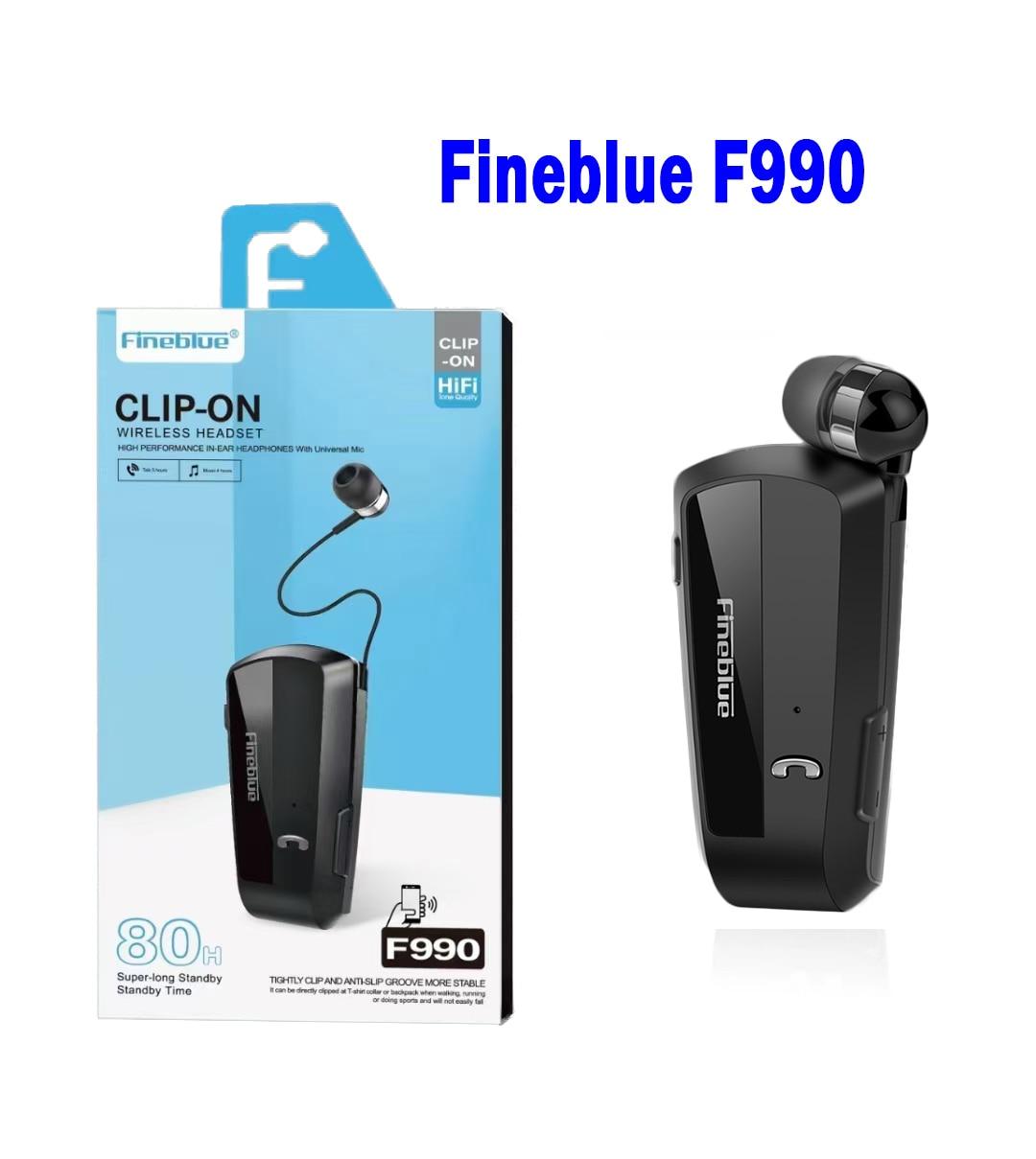 Fineblue F990 Gamera Earphone Wireless business Bluetooth Headset V5.0 Sport Driver headphone Clip on stereo earbud Vibration