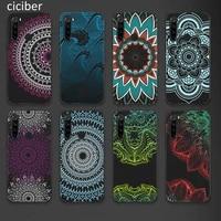 mandala phone case for xiaomi redmi note 10 9 8 7 8t pro mi note 11 10 9 9t 10t pro lite poco x3 f3 m3 soft silicone black funda