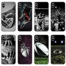 Pelota de Rugby deporte de silicona funda para iPhone x XR XS 11 Pro Max 8 7 6 6S Plus 5 5S SE 4S 4 iPod Touch 5 6