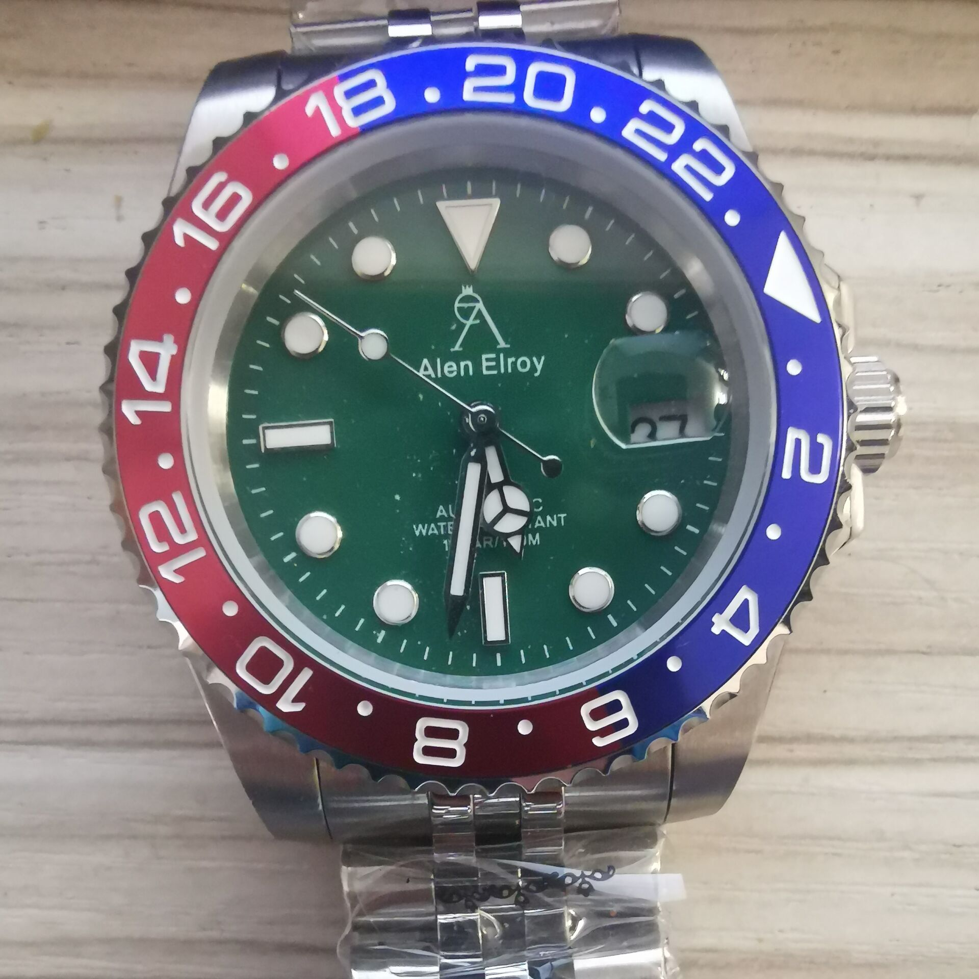 u1 aaa Brand New Men Automatic Mechanical Watch Green Ceramic Bezel Watches  Sapphire Glass Wristwatch Stainless Steel Bracelet