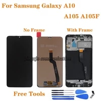 a10 lcd for samsung galaxy a10 2019 display a105 sm a105fds a105fn a105g a105m lcd screen touch digitizer assembly with frame