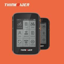 Nouveau ThinkRider GPS intelligent vélo ordinateur ANT + Bluetooth powermètre Support LCD affichage IPX7 étanche chronomètre 2.4 pouces chiffre