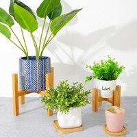 Durable Wood Planter Pot Flower Stand Rack Standing Bonsai Holder Garden Indoor Display Plant Stand Shelf подставка для цветов